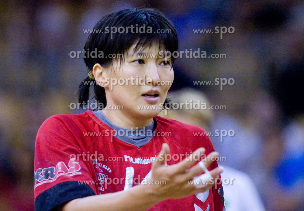 Ljudmila Bodnieva of Krim Mercator at first finals handball match of Slovenian Women National Championships between RK Olimpija and RK Krim Mercator, on May 16, 2009, in Arena Tivoli, Ljubljana, Slovenia. Olimpija won after 10 years vs Krim Mercator 30:28. (Photo by Vid Ponikvar / Sportida)