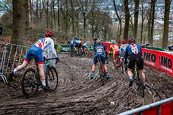 Bethany CRUMPTON of Great Britain descending during 2nd lap of Women Elite race, UCI Cyclo-cross World Championships at Valkenburg, the Netherlands, 3 February 2018. Photo by Pim Nijland / PelotonPhotos.com | All photos usage must carry mandatory copyright credit (Peloton Photos | Pim Nijland)
