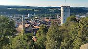 Blick auf die Altstadt von Ravensburg, Baden-Württemberg, Deutschland