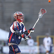 Will Manny #1 of the Boston Cannons throws the ball during the game at Harvard Stadium on May 17, 2014 in Boston, Massachuttes. (Photo by Elan Kawesch)