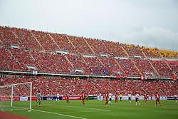BANGKOK, THAILAND - Sunday, July 28, 2013: Liverpool supporters during a preseason friendly match against Thailand at the Rajamangala National Stadium. (Pic by David Rawcliffe/Propaganda)