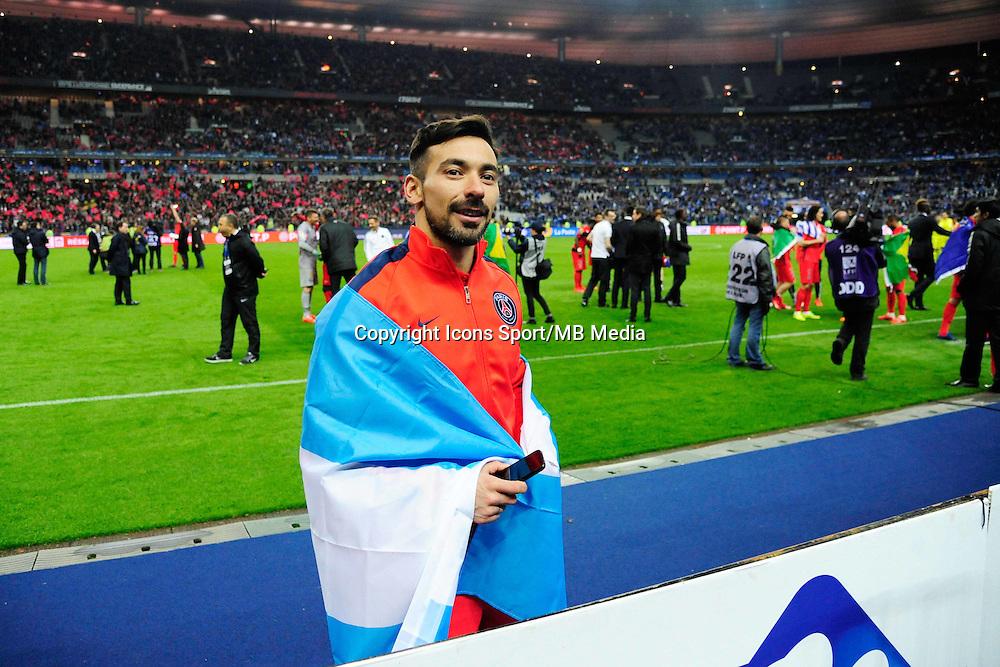 Victoire du PSG / Ezequiel LAVEZZI  - 11.04.2015 -  Bastia / PSG - Finale de la Coupe de la Ligue 2015<br />Photo : Dave Winter / Icon Sport