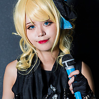 A cosplay participant dresses as Ayase Eli of 'LoveLive!' at the 19th Ani-Com and Games Fair 2017 at the Hong Kong Convention and Exhibition Centre on 28 July 2017. The annual fair showcases animation, comics, online games, electronic games and edition collectibles, and runs from 28 July to 1 August 2017 in Hong Kong, China. Photo by Yu Chun Christopher Wong / studioEAST