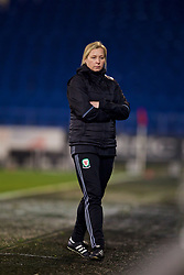 CARDIFF, WALES - Friday, November 24, 2017: Wales' manager Jayne Ludlow during the FIFA Women's World Cup 2019 Qualifying Round Group 1 match between Wales and Kazakhstan at the Cardiff City Stadium. (Pic by David Rawcliffe/Propaganda)