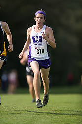 Shane Roberts of the Western Mustangs  (310) competes in the men's 8k  at the 2015 Western International Cross country meet in London Ontario, Saturday,  September 26, 2015.<br /> Mundo Sport Images/ Geoff Robins