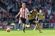 Sunderland's Midfielder Sebastian Larsson (7) in action during the Barclays Premier League match between Sunderland and Arsenal at the Stadium Of Light, Sunderland, England on 24 April 2016. Photo by George Ledger.