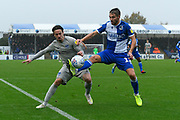 Ryan Williams (7) of Portsmouth battles for possession with Luke Leahy (11) of Bristol Rovers during the EFL Sky Bet League 1 match between Bristol Rovers and Portsmouth at the Memorial Stadium, Bristol, England on 26 October 2019.