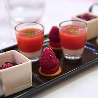 Dessert selection at the Relais & Chateaux La Cote Saint-Jacques