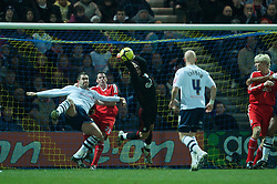 PRESTON, ENGLAND - Saturday, January 3, 2009: Liverpool's goalkeeper Diego Cavalieri punches clear against Preston North End during the FA Cup 3rd Round match at Deepdale. (Photo by David Rawcliffe/Propaganda)