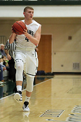 17 November 2015:  Andy Stempel(4) during an NCAA men's division 3 CCIW basketball game between the Greenville College Panthers and the Illinois Wesleyan Titans in Shirk Center, Bloomington IL