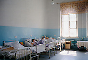 Patients in ward of hospital in St Petersburg, Russia