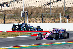 February 26, 2019 - Barcelona, Catalonia, Spain - Lance Stroll Racing Point UK and Lewis Hamilton Mercedes-AMG Petronas during F1 test celebrated at Circuit of Barcelona 26th February 2019 in Barcelona, Spain. (Credit Image: © Mikel Trigueros/NurPhoto via ZUMA Press)