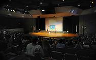 """UPPER MORELAND, PA - SEPTEMBER 16: Dr. Jay Banks, presents his """"I Am Unafraid"""" anti-bullying program at Upper Moreland Middle School September 16, 2014 in Upper Moreland, Pennsylvania. (Photo by William Thomas Cain/Cain Images)"""