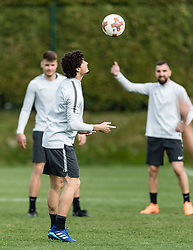 11.04.2018, Taxham, Salzburg, AUT, UEFA EL, FC Salzburg vs SS Lazio Roma, Viertelfinale, Rueckspiel, Abschlusstraining FC Salzburg, im Bild Andre Ramalho (FC Salzburg) // Andre Ramalho (FC Salzburg) during practice session of FC Salzburg prior to the UEFA Europa League Quarterfinals, 2nd Leg Match between FC Salzburg and SS Lazio Roma at Taxham in Salzburg, Austria on 2018/04/11. EXPA Pictures © 2018, PhotoCredit: EXPA/ Stefan Adelsberger