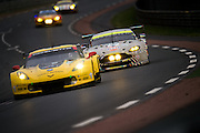 June 8-14, 2015: 24 hours of Le Mans - #64 CORVETTE RACING, Oliver GAVIN, Tommy MILNER, Jordan TAYLOR, #97 ASTON MARTIN RACING, ASTON MARTIN VANTAGE V8, Darren TURNER, Stefan MÜCKE, Rob BELL