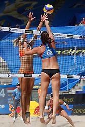 20190628 DEU: World Champs Hamburg 2019: Hamburg<br /> Marleen van Iersel (NED,1), Joy Stubbe (NED,2), Kerri Walsh Jennings (USA,1), Brooke Sweat (USA,2)<br /> ©2019-FotoHoogendoorn.nl / Pim Waslander
