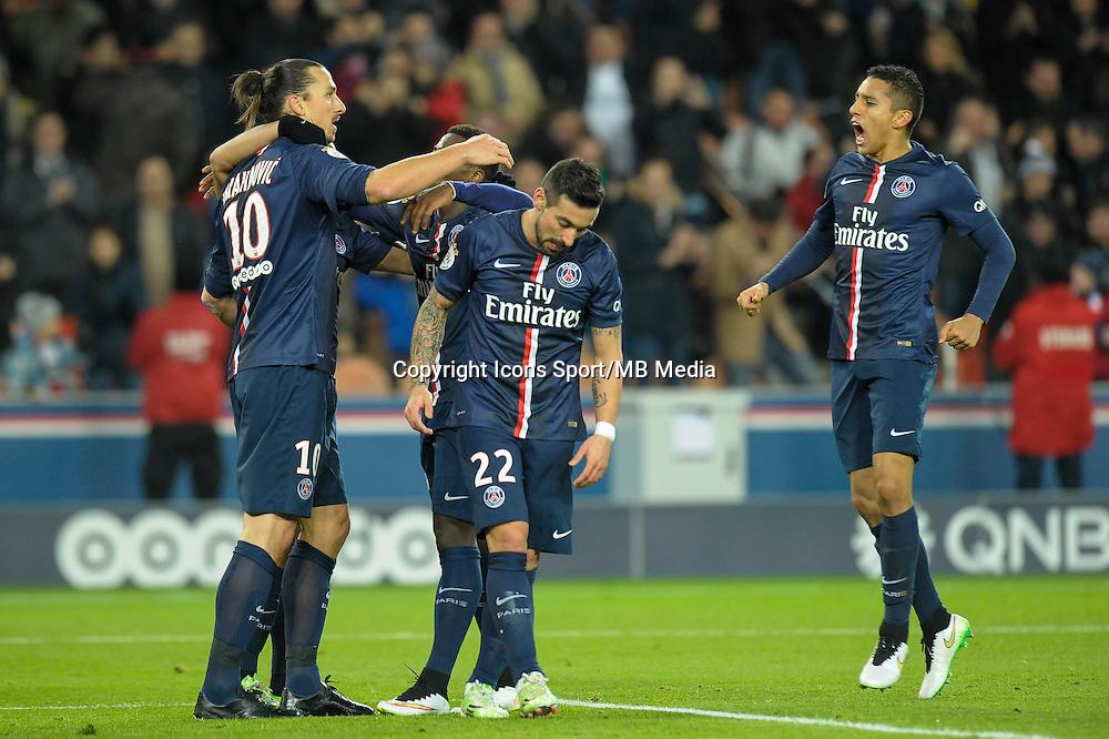 Joie PSG / Zlatan Ibrahimovic - 06.12.2014 - PSG / Nantes - 17eme journee de Ligue 1<br />Photo : Andre Ferreira / Icon Sport