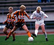 24.05.1987, Lahti, Finland..SM-sarja / Finnish League, Kuusysi v Reipas.Jarkko Kallio (Reipas) v Juha Annunen (Kuusysi).©Juha Tamminen