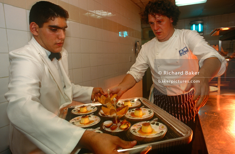 The chef Marco Pierre-White works in the kitchens of the Hyde Park Hotel. Marco Pierre White (born 11 December 1961) is a British celebrity chef, restaurateur and television personality. He is noted for his contributions to contemporary international cuisine and his exceptional culinary skills. White has been dubbed the first celebrity chef  enfant terrible[of the UK restaurant scene and the Godfather[of modern cooking. White was, at the time, the youngest chef ever to have been awarded three Michelin stars.