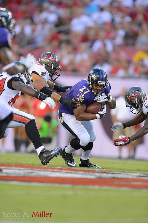 Baltimore Ravens running back Ray Rice (27) during a preseason NFL game at Raymond James Stadium on Aug. 8, 2013 in Tampa, Florida. <br /> <br /> &copy;2013 Scott A. Miller