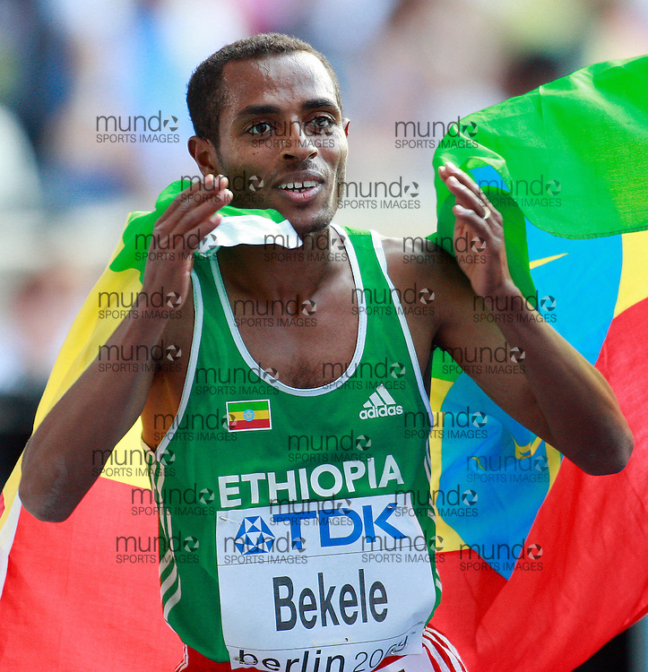Berlin 2009 World Championships - August 23 - Day 8 - Evening Session *** Local Caption *** Kenenisa Bekele - 5000m Gold Ethiopia