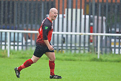 CARDIFF, WALES - Saturday, September 3, 2016: Carnetown FC #10 celebrates scoring a goal against Grange Albion during the FAW Trophy 2nd Round match at Coronation Park. (Pic by David Rawcliffe/Propaganda)