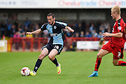 Wycombe's Michael Harriman attacking during the Sky Bet League 2 match between Crawley Town and Wycombe Wanderers at the Checkatrade.com Stadium, Crawley, England on 29 August 2015. Photo by David Charbit.