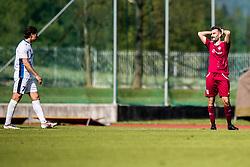 Etien Velikonja of ND Gorica and Bojic Momir of NK Triglav  during Football match between NK Triglav Kranj and ND Gorica in 30th Round of Prva liga Telekom Slovenije 2018/19, on May 2nd, 2019, in Sports park Kranj, Slovenia. Photo by Grega Valancic / Sportida