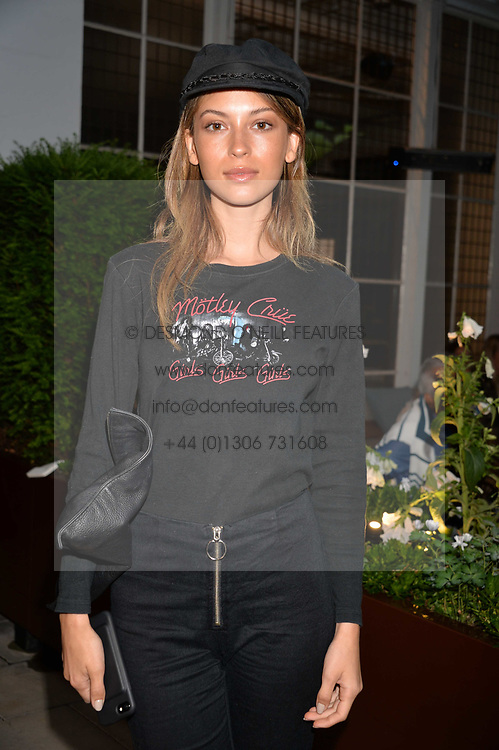 Cassie Amato at the Aspall Tennis Classic Players Party hosted by Aspall and Taylor Morris Eyewear at Bluebird, 350 King's Road, Chelsea, London England. 28 June 2017.<br /> Photo by Dominic O'Neill/SilverHub 0203 174 1069/ 07711972644 - Editors@silverhubmedia.com