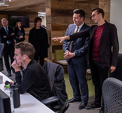 Pictured: Jamie Hepburn was shown around Whitespace by managing partner Phillip Lockwood-Holmes<br /><br />Business Minister Jamie Hepburn visited Whitespace design agency in Edinburgh today to formally launch the Future Skills Action Plan.<br /><br />Mr Hepburn was given a tour of the agency's office and launched the new plan which aims to help Scotland's workforce acquire the necessary skills to address issues such as EU exit, rapid technological changes and the climate emergency.<br /><br />Ger Harley   EEm 10 September 2019