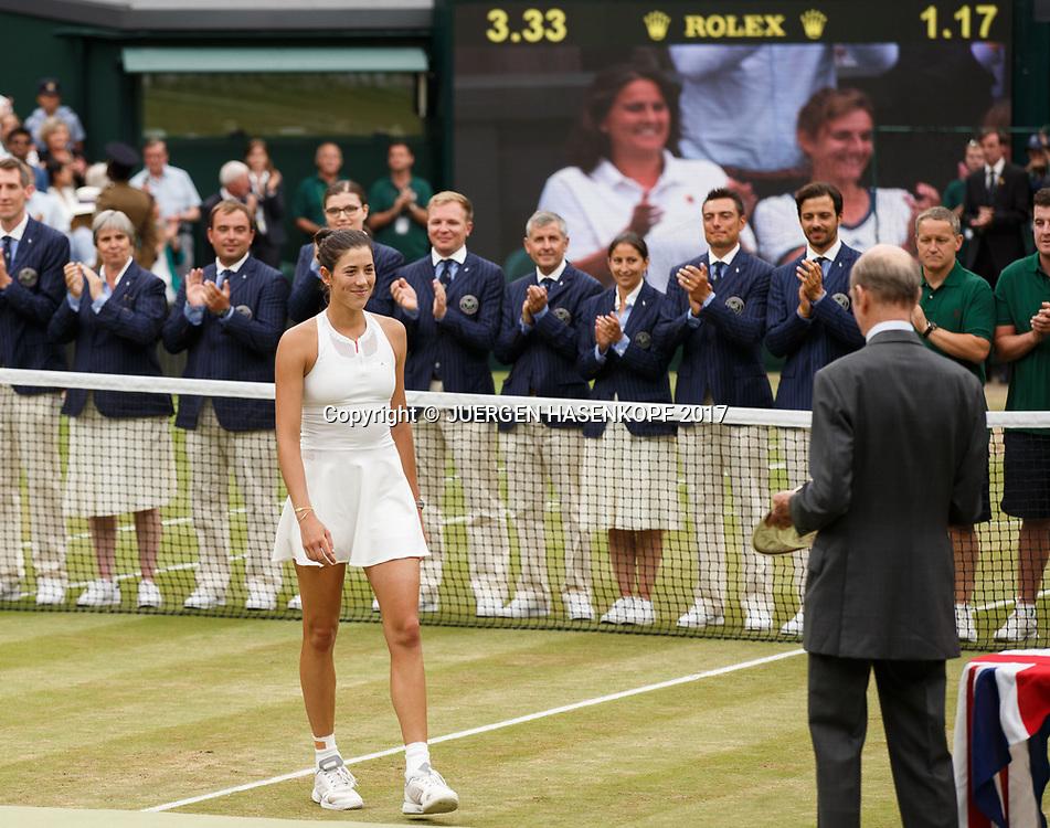 GARBI&Ntilde;E MUGURUZA (ESP),Siegerehrung,Praesentation, Endspiel, Final<br /> <br /> Tennis - Wimbledon 2016 - Grand Slam ITF / ATP / WTA -  AELTC - London -  - Great Britain  - 15 July 2017.