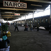 The platform at the Nairobi rail station.