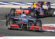 Grand prix de Bahraïn 2010..Circuit de shakir. 14 mars 2010..Course..Photo Stéphane Mantey/ L'Equipe. *** Local Caption *** button (jenson) - (gbr) -..webber (mark) - (aus) -