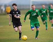 Cannon Fodder (black) v Hilltown Hotspurs (green) in the Dundee Saturday Morning Football League at University Grounds, Riverside, Dundee, Photo: David Young<br /> <br />  - &copy; David Young - www.davidyoungphoto.co.uk - email: davidyoungphoto@gmail.com