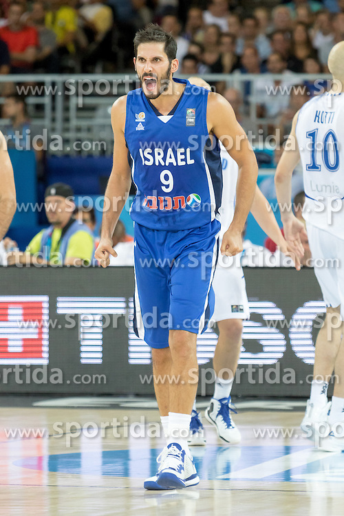 06.09.2015, Park Suites Arena, Montpellier, FRA, Finnland vs Israel, Gruppe A, im Bild OMRI CASSPI (9) // during the FIBA Eurobasket 2015, group A match between Finland and Israel at the Park Suites Arena in Montpellier, France on 2015/09/06. EXPA Pictures &copy; 2015, PhotoCredit: EXPA/ Newspix/ Pawel Pietranik<br /> <br /> *****ATTENTION - for AUT, SLO, CRO, SRB, BIH, MAZ, TUR, SUI, SWE only*****