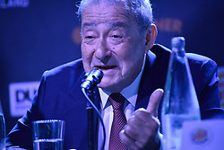 December 8, 2016 - Auckland, New Zealand - Andy Ruiz's promoter Bob Arum speaks to the media during a Press conference ahead of the WBO world title boxing match between Joseph Parker and Andy Ruiz. (Credit Image: © Shirkey Kwok/Pacific Press via ZUMA Wire)