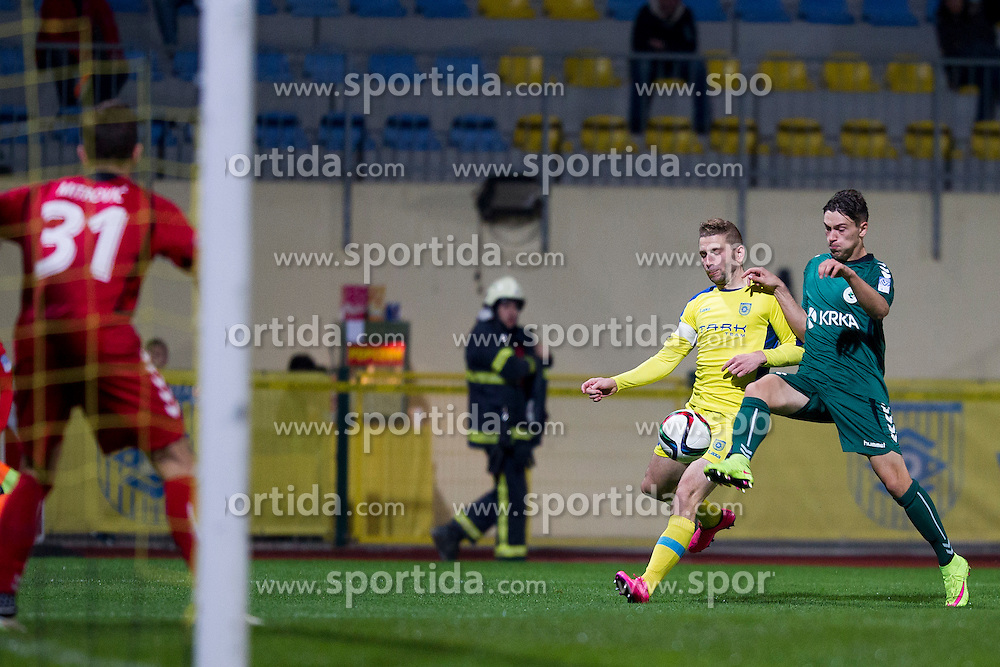 Nejc Skubic #2 of NK Domzale during football match between NK Domzale and NK Krka in 14th Round of Prva liga Telekom Slovenije 2015/16, on October 17, 2015 in Sports park Domzale, Slovenia. Photo by Urban Urbanc / Sportida