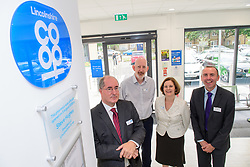 Pictured is, from left, Lincolnshire Co-operative president Steve Hughes, Lincolnshire Co-operative superintendent pharmacist Alastair Farquhar, Lincolnshire Co-operative chief executive Ursula Lidbetter and Councillor Rob Waltham, leader of North Lincolnshire Council.<br /> <br /> <br /> Celebration event to mark the opening of the new Lincolnshire Co-operative Westcliffe Pharmacy in Scunthorpe.<br /> <br /> Picture: Chris Vaughan Photography for Lincolnshire Co-operative<br /> Date: August 3, 2018