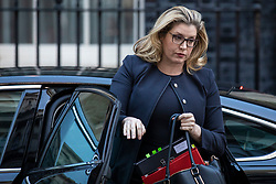 © Licensed to London News Pictures. 13/11/2018. London, UK. Secretary of State for International Development Penny Mordaunt arrives on Downing Street for the Cabinet meeting. Photo credit: Rob Pinney/LNP
