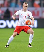 2016.03.23 Poznan<br /> Pilka Nozna Reprezentacja Mecz towarzyski<br /> Polska - Serbia<br /> N/z Kamil Grosicki<br /> Foto Rafal Rusek / PressFocus<br /> <br /> 2016.03.23 Poznan<br /> Football Friendly Game<br /> Poland - Serbia<br /> Kamil Grosicki<br /> Credit: Rafal Rusek / PressFocus