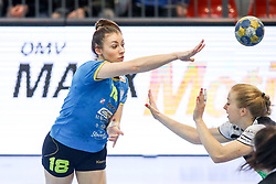Nina Zulic of RK Krim Mercator during handball match between RK Zagorje and RK Krim Mercator in Final game of Slovenian Women Handball Cup 2017/18, on April 1, 2018 in Park Kodeljevo, Ljubljana, Slovenia. Photo by Matic Klansek Velej / Sportida