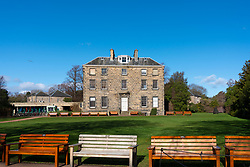 Exterior view of Inverleith House in Royal Botanic Garden Edinburgh, Scotland UK