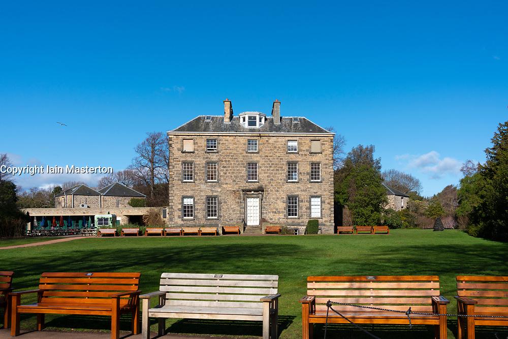 Exterior view of Inverleith House in Royal Botanic Garden Edinburgh, Scotland UK