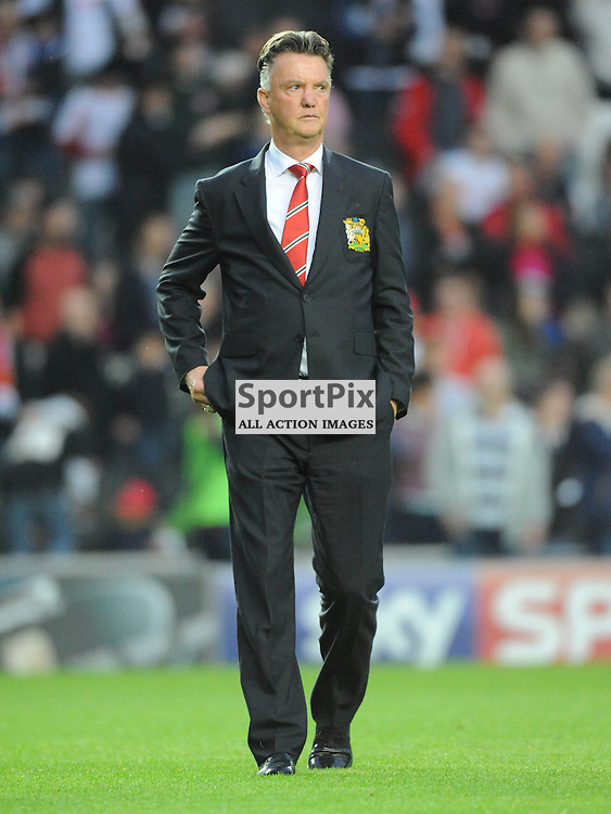 Louis Van Gaal, Manager, Mk Dons v Manchester United, Capital One Cup,  Milton Keynes, MK Stadium, Tuesday 26th August 2014