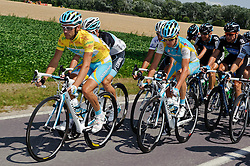 08.07.2011, AUT, 63. OESTERREICH RUNDFAHRT, 6. ETAPPE, HAINBURG-BRUCK AN DER LEITHA, im Bild der Mann in Gelb Fredrik Kessiakoff, (SWE, Pro Team Astana) // during the 63rd Tour of Austria, Stage 6, 2011/07/08, EXPA Pictures © 2011, PhotoCredit: EXPA/ S. Zangrando