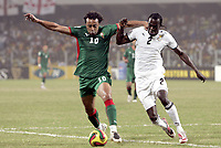 Fotball<br /> Afrika mesterskapet 2008<br /> Foto: DPPI/Digitalsport<br /> NORWAY ONLY<br /> <br /> FOOTBALL - AFRICAN CUP OF NATIONS 2008 - QUALIFYING ROUND - GROUP A - 28/01/2008 - GHANA v MOROCCO - TARIK SEKTIOUI (MOR) / HANS SARPEI (GHA)<br /> <br /> Ghana v Marokko