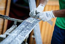 Preparation of Slatnar ski jumping skies during Ski Jumping Continental Cup in Kranj, Slovenia Photo by Grega Valancic / Sportida