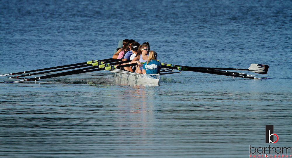 A rowing crew spends Friday afternoon practicing on Batterson Park Pond in New Britain.
