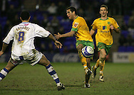 Tranmere - Friday, April 2nd, 2010: Darel Russell of Norwich City in action against Marlon Broomes of Tranmere Rovers during the Coca Cola League One match at Prenton Park, Tranmere. (Pic by Michael Sedgwick/Focus Images)