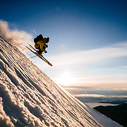 Forrest Jillson gets air at sunrise in Wyoming.